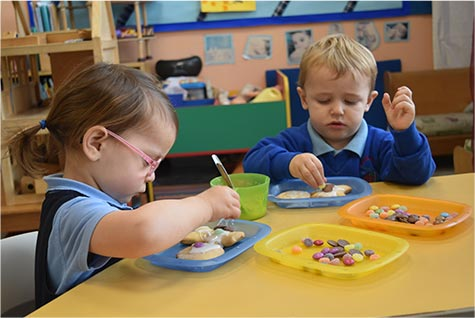 Childcare Toddlers Eating at Nursery