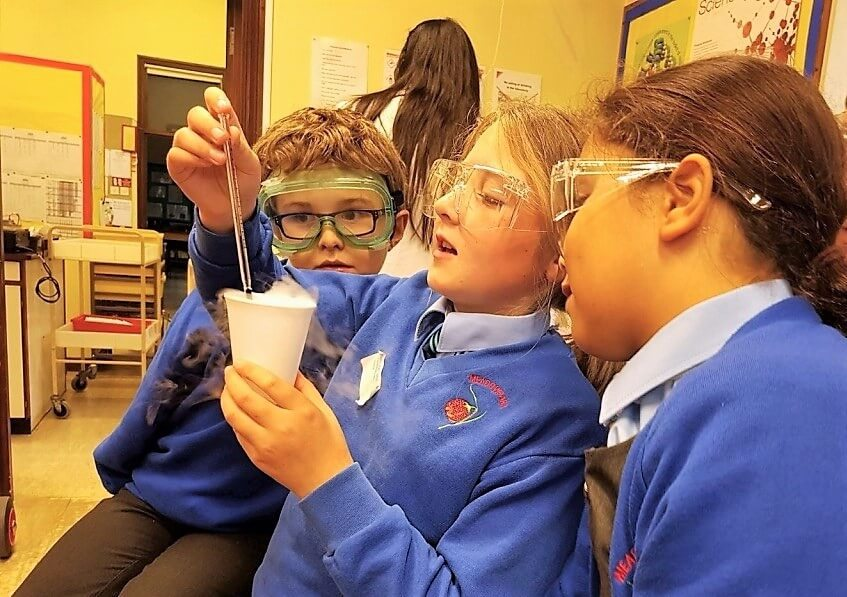 Meadowpark School Pupils Doing Experiments