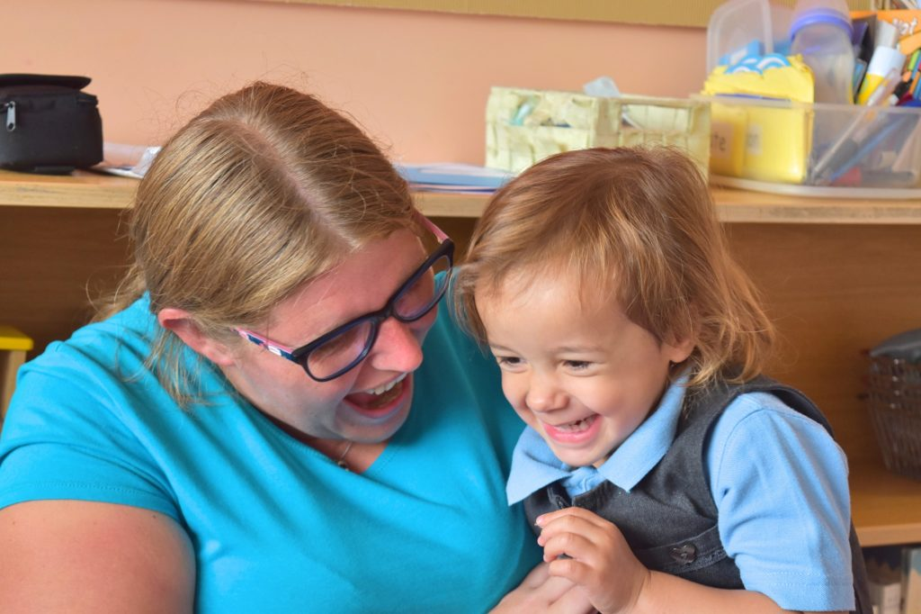 Staff and Pupil at Nursery